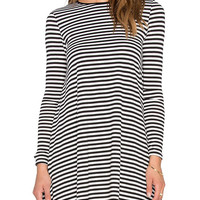 Stripe Long Sleeve Mini T-Shirt Dress