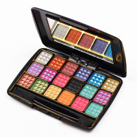 18 Color New Makeup Women Natural Warm Eyeshadow + Blush Palette Set + Free Shipping