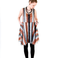 Easy Circle Striped Tank Dress Spin by adriennebutikofer