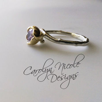 Flower Engagement Ring by Carolyn Nicole Designs