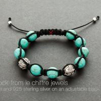 Old Rocks turquoise silver smamballa bracelet