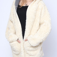 'The Courtney' Pink Wool Hooded Coat