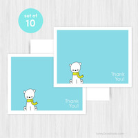 Sale 20% Polar Bear Thank You Card Set Blank Notecards Notes Note Cards Boxed Stationery Thanks Birthday Shower Gifts Pack of 10 Handmade...