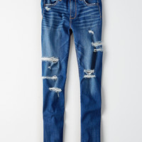 AEO Denim X Seamless Hi-Rise Jegging, Destroy Your Blues