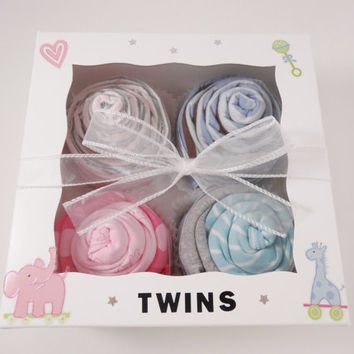 Twin Boy and Girl Baby Gift 12 piece set Baby gift for Twin Boy and Girl