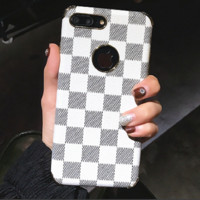 LV print phone shell phone case for Iphone 6/6s/6p/7p/7/X