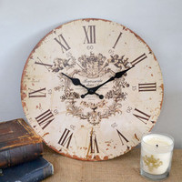 French Inspired Cherub Clock - Small - $29 - The Bella Cottage
