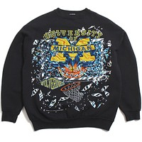 University of Michigan Basketball Shattered Backboard Tultex Crewneck Sweatshirt Black (XL)
