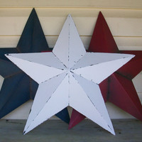 3 Metal Red White and Blue Stars