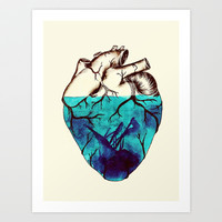 Sunken Heart Art Print by Luis Patino