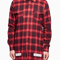 Check shirt from the S/S2016 Off-White c/o Virgil Abloh in red