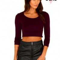 Missguided - Magda Value Crop Top In Burgundy