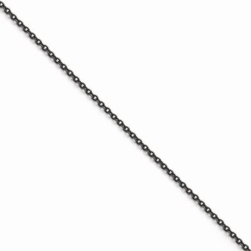 Men's Stainless Steel Oxidized Chain Necklace
