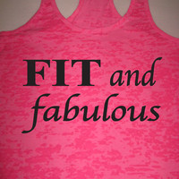 Fit and Fabulous Motivational Workout Racerback Tank Top WorkItWear