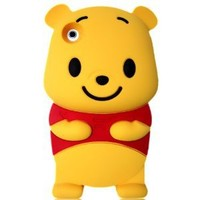 Winnie the Pooh 3D Cartoon Soft Shell Case for iPhone 3G/3GS: Cell Phones & Accessories