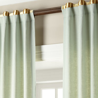 "Each 52""W x 108""L Hudson Metallic-Band Curtain - Home Silks"