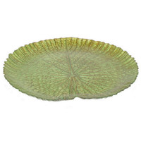 "Benzara 12.75"" Glass Votive Plate"
