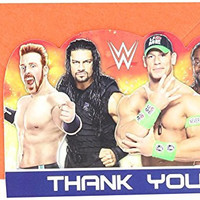 """Amscan Grand Slammin' WWE Birthday Party Postcard Thank You Cards Supply (8 Pack), 4 1/4"""" x 6 1/4""""., Multicolor"""
