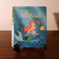 "Vintage 1997 Walt Disney's ""The Little Mermaid"" - A little Golden Book / Kids Book / Great Condition / Ariel Flounder Sebastian"
