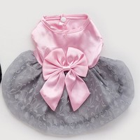 Pet Dog Dress For Dresses Puppy Skirt Clothing Costumes Gift 6 Size T015