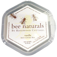 Bee Naturals Best Skin Cream Bar - Solid Form Hand Lotion - Purse Size Travel Container - Smooth, Soothe and Soften Your Hands. (Vanilla)