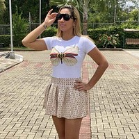 GUCCI GG Women With short sleeves Top Short skirt Two-Piece