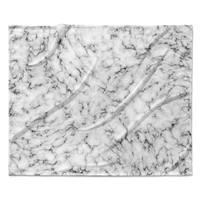 "Will Wild ""Marble"" White Gray Fleece Throw Blanket"
