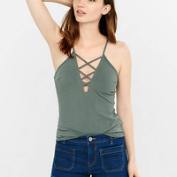 Express One Eleven Plunging Strappy Cami from EXPRESS
