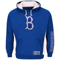 Brooklyn Dodgers Majestic Cooperstown Collection Stadium Wear Pullover Hoodie - Royal Blue