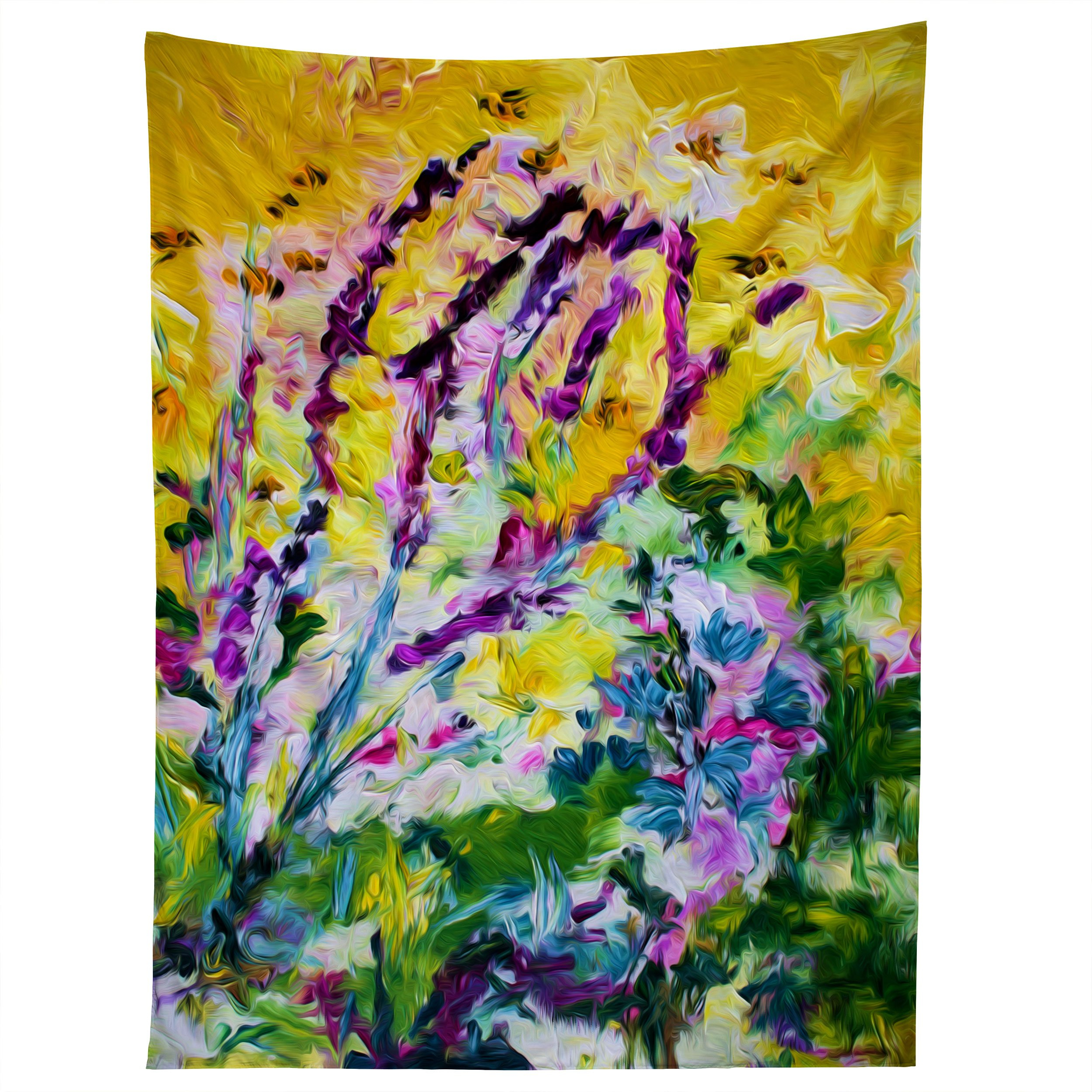 Image of Ginette Fine Art Lavender and Bees Provence Tapestry