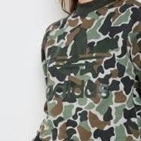 KUYOU Adidas Originals Women's Sweatshirt (Camo/Black)