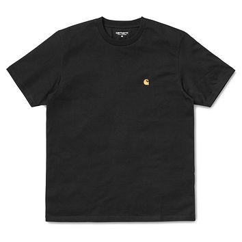 Chase Short Sleeve Tee in Black