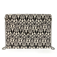 Letter Precious Black and White Envelope Clutch