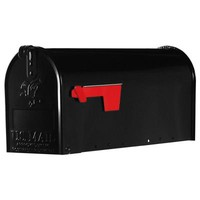 Gibraltar Mailboxes Elite Standard Galvanized Steel Post-Mount Mailbox in Black-E1100B00 - The Home Depot