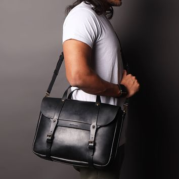 *Oslo Handcrafted Premium Leather Laptop and Briefcase