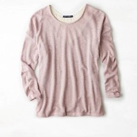 AEO FEATHER LIGHT CROCHET BACK SWEATER