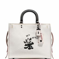 Coach 1941 Rogue Felix Laughing Tote Bag, White