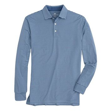 Driver Heather Long Sleeve Performance Polo by Southern Tide