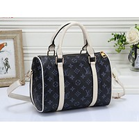 LV Fashion Collision Full Printed Male and Female Travel Home Baggage Blue