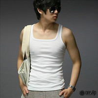Sleeveless U-Neck Tank