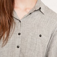 BDG Pemperton Grey Marled Shirt - Urban Outfitters