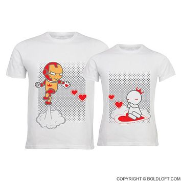 Keep Calm And Love Me™ His & Hers Couples Shirts,Matching Couple Shirts,Heart Pattern Valentines Shirt,Gift for Couple,Ironman Shirt