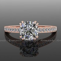 Solitaire Vintage Style Engagement Ring