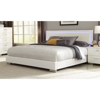 Coaster Company Felicity White LED Lighting Platform Bed | Overstock.com Shopping - The Best Deals on Beds