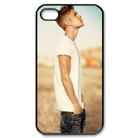 Vcase-010 Super Handsome Cool Star Justin Bieber J.B Hard Printed Case Cover Protector for Apple iPhone 4,4s