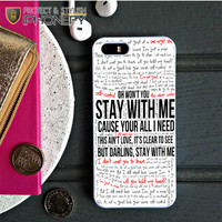 Sam Smith Stay With Me Lyric iPhone 5C Case iPhonefy