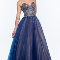 Strapless Sweetheart Ball Gown by Terani