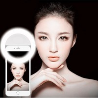 2017 New Beauty Selfie Lamp Led Light Camera Phone Photography Selfie Ring Light Enhancing Photography for iPhone Samsung Xiaomi