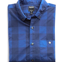 Button-down Collar Shirt in Exploded Blue Gingham