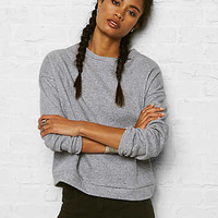 Don't Ask Why Contrast-Back Sweatshirt, Light Gray